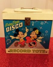 Mickey Record tote with Little Golden Books with records and extras