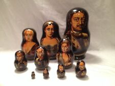RUSSIAN TSARS QUEEN PORTRAITS  RUSSIAN MATRYOSHKA NESTING DOLL 10