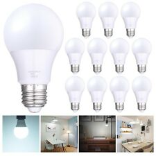 9W Slim Style A19 LED Globe Light Bulb Cool White 6500K 12 Pack Equivalent 60W