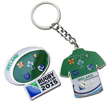 Rugby World Cup 2015 Ireland Flag Pin and Key Ring Set