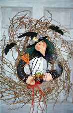 #7210 Witch doll wreath pattern by Bonnie B Buttons