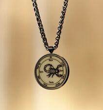 talisman 5th PENTACLE OF MARS protection HQ stainless steel +  chain WICCA pagan