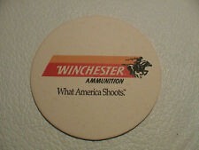 WINCHESTER AMMUNITION WHAT AMERICA SHOOTS GUN RIFLE SHOTGUN HUNTING BEER COASTER