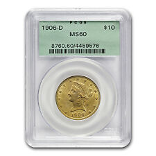 $10 Liberty Gold Eagle - Ms-60 Pcgs/Ngc - Sku #70613