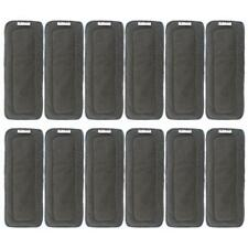 Alva Baby 5-Layer Charcoal Bamboo Inserts Reusable Liners for Cloth Diapers 12pc