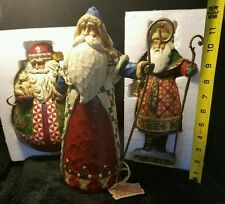 Santa Christmas HeartWood Creek Jim Shore 3 item Collection Fast Shipping U.S