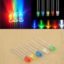 100Pcs 3mm LED Light Bulb Emitting Diode Bulbs Lamps 5 Color Mixed
