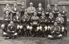 Bedford School 1930 Rugby Team (A) unused RP old pc