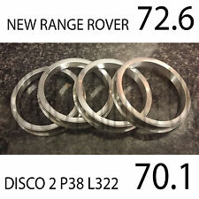 Aluminium Spigot Rings 72.6 - 70.1 BMW New Range Rover Sport to Discovery 2 L322