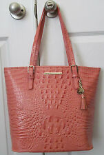 BRAHMIN ASHER Creamsicle Melbourne Leather TOTE only
