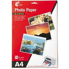 12 Sheets A4 Gloss Photo Paper Print Colour Images From Digital Cameras 235 gsm
