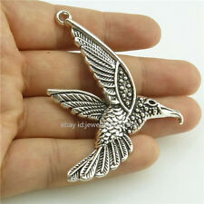 14850*5PCS Silver Vintage Animal Bird Flying Eagle Pendant Alloy Antique