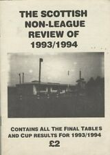 Booklet : THE SCOTTISN NON LEAGUE REVIEW OF 1993 - 94 by Stewart Davidson