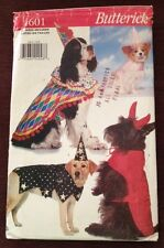 Dog Halloween Costume Butterick 4601 Uncut Pattern Devil Wizard Princess Jester