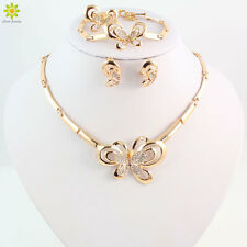 Butterfly Design Jewelry Sets Gold Plated Necklace Earrings Bracelet Ring Set