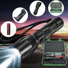 6000LM T6 LED Zoomable Aluminum Tactical Flashlight Torch Light Lamp set