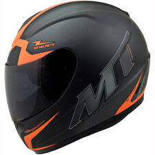 Motorcycle MT Helmets Thunder Squad Helmet Black Orange L UK Seller