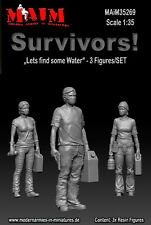 1/35 Scale Resin kit Survivors - Find some Water SET (3 Figures) – Zombie Wars
