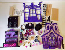 Monster High Doll 33 Pc Lot of Accessories & Playset Pieces Furniture Incomplete