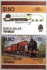 TUVALU NUKULAELAE 1986 94-95 VARITY ABART Locomotive Railway Lokomotive Zug MNH