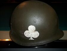 WWII 101st airborne 327th ARMY M-1 MILITARY  HELMET