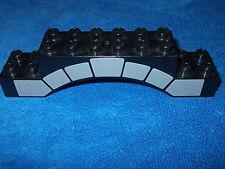 LEGO DUPLO RITTERBURG aus 4785 langer  BRÜCKENSTEIN 20er NOPPEN SCHWARZ MAUER P4
