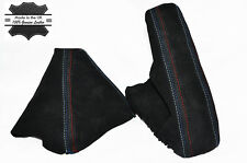 BLACK PU SUEDE M COLOURS STITCH GAITERS FITS BMW 1 Series E81 E87 E82 E88 04-13