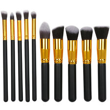 10Pcs Cosmetic Brushes Set Kit Tool Powder Foundation Eyeshadow Brush Makeup US