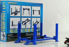 Hebebühne taller equipment diorama 4 post lift variable Blue azul 1:18