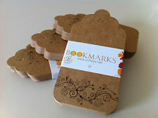 "20PCS DIY Printed Kraft Brown ""BOOKMARKS"" Gift Paper Tags + Free Twines"