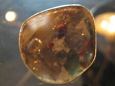 Sterling Silver Mounted Bloodstone Ring Size 7 1/2