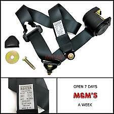 CLASSIC ROVER MINI - GENUINE ROVER - FRONT SEAT BELT( BLACK ) N/S - O/S (NEW)