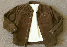 Boys Marks & Spencer Indigo collection brown fur lined jacket age 11-12 years