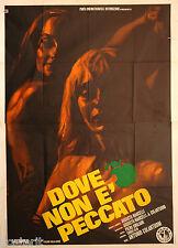 manifesto 4F originale DOVE NON E' PECCATO documentario sulla Finlandia 1970