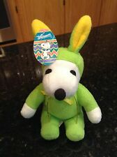 Peanuts Snoopy Plush Green Rabbit Bunny Outfit Yellow Ears Whitmans Easter