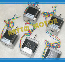 5Pcs Nema17 Stepper Motor 78 oz-in 48mm 0.9deg 1.8A For CNC Router / 3D Printer