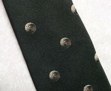 CLUB ASSOCIATION TIE VINTAGE RETRO 1980s 1990s DARK BROWN BY TOPMAN CREST MOGO