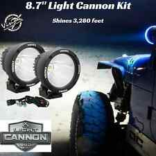 "Vision X 90 Watt 8.7"" LED LIGHT CANNON BLACK 10 Degree SPOT BEAM W/ HARNESS"
