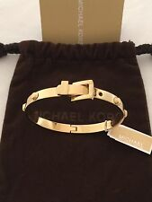 New MICHAEL KORS Astor Buckle Gold Bangle Bracelet MKJ1819710