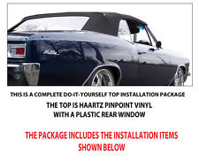 CHEVROLET CHEVELLE, MALIBU CONVERTIBLE TOP DO IT YOURSELF PKG. 1966-1967