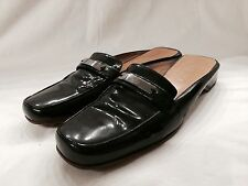 AUTH GUCCI Loafer Mules Slip On Black Leather Sz 6.5 B Slides *Like Princetown