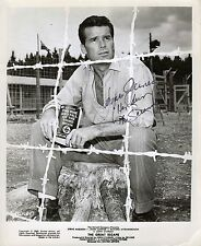 Hand Signed 8x10 orignal photo JAMES GARNER in THE GREAT ESCAPE as HENDLEY
