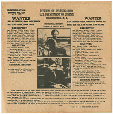 Bonnie & Clyde Wanted Poster   Outlaws & Criminals   Flyer/Poster Prop Replica