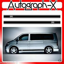 VW Volkswagen T4T5 Transporter Camper Van Stripes Stickers Graphics Decal 03 LWB