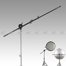 Photo Studio Light Panel Reflector Arm Holder with Grip Swivel Head Holder Clamp
