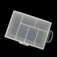 Clear Hard quality Plastic 6 Compartment Storage Container Case Box