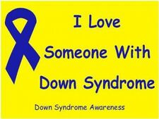 Down Syndrome Window / Bumper Sticker - I Love...