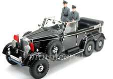SIGNATURE MODELS 38202 1938 38 MERCEDES BENZ G4 WITH 3 FIGURES 1/18 BLACK