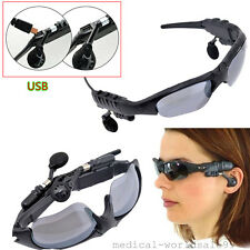 USB Wireless Sunglasses Bluetooth Stereo Music Headphone headset earphone earpie
