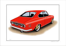MAZDA RX2 COUPE RE10 RE12  ROTARY   LIMITED EDITION CAR PRINT AUTOMOTIVE ARTWORK